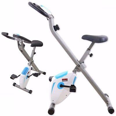 Foldaway Magnetic Exercise Machine Cardio Gym Fitness Bike Trainer 2kg Flywheel