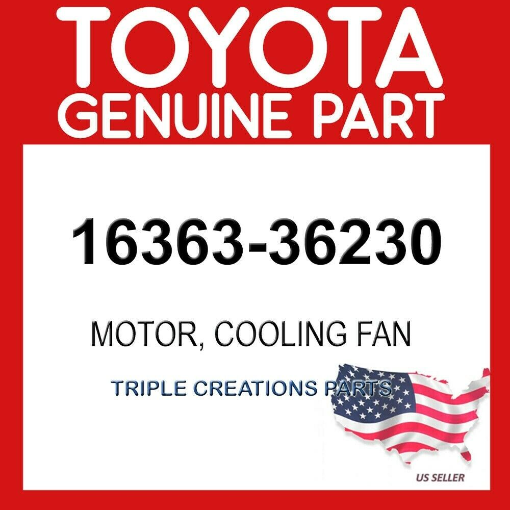 Toyota 16363-36110 Engine Cooling Fan Motor