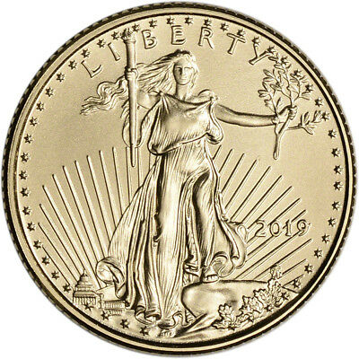 2019 American Gold Eagle 1/10 oz $5 - BU