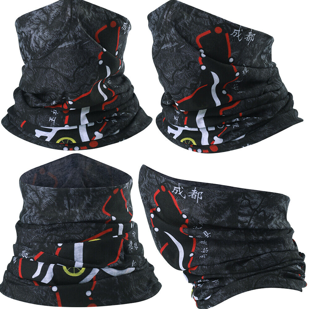 Tube Bandana Men Womens Face Cover Scarf Neck Gaiter Headband Motorcycle Cycling Clothing, Shoes & Accessories