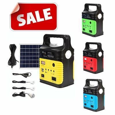 Solar Generator Lighting Home System Kit 12V 10W with Solar Panel USB Lamps (Solar Panels Lights)