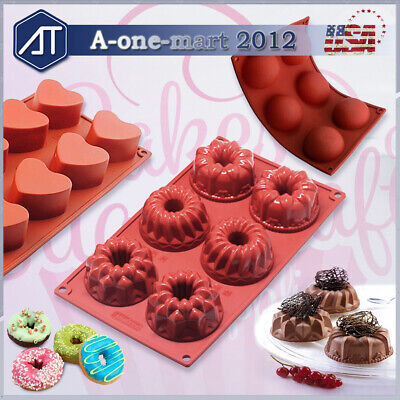 Mini Cake Pan Silicone Baking Mold for Bundt Cake Muffin Cupcake Chocolate Décor Mini Muffin Cupcake