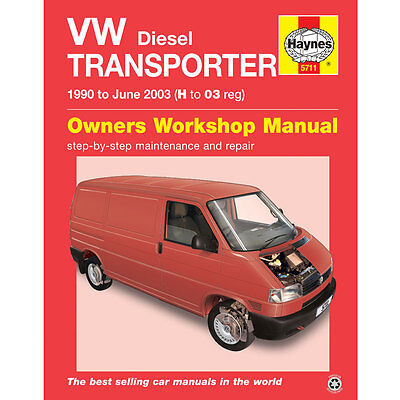 New Haynes Manual VW T4 Transporter Diesel 1990 - 2003 Car Workshop Repair Book