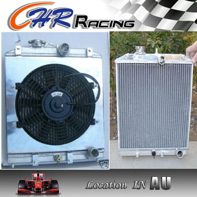 42mm 2row aluminum radiator shroud fan Honda Civic EK EG 92-00 with 32mm in//out
