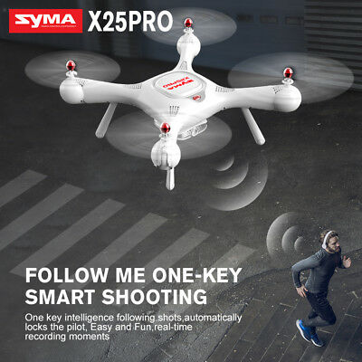 SYMA X25PRO FPV GPS Position Follow Me Camera Drone RC Quadcopter 180 Wide Angle
