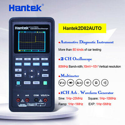 Hantek 2d82auto Kit Automotive Diagnostic Oscilloscope 60-99mhz 30000wfms