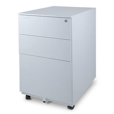 Aurora Modern Soho Design 3-drawer Metal Mobile File Cabinet With Lock Key