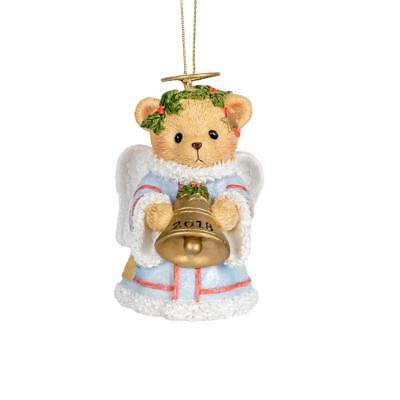 Cherished Teddies 2018 Dated Annual Angel Bell Hanging Ornament - Annual Dated Ornament
