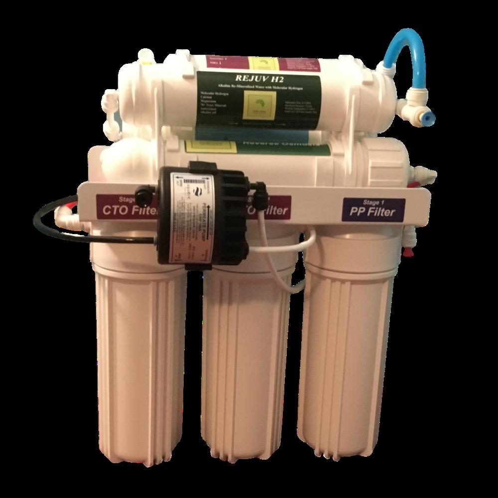 Alkaline RO Water Filter/75 GPD 9 Stage RO System/Alkaline W