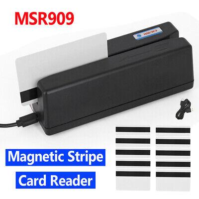Msr909 Magnetic Stripe Card Reader Writer Encoder Credit Magstrip Ibm Iso Ansi