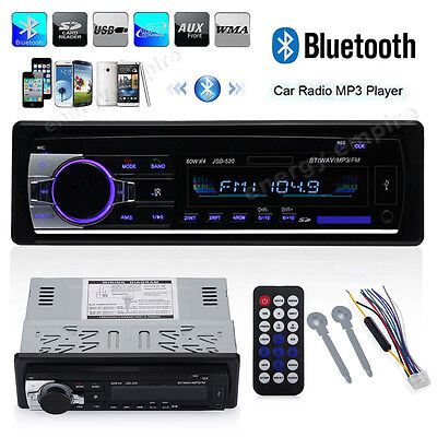 Car Stereo Audio Bluetooth In Dash Fm Aux Input Receiver Sd Usb Mp3 Radio Player