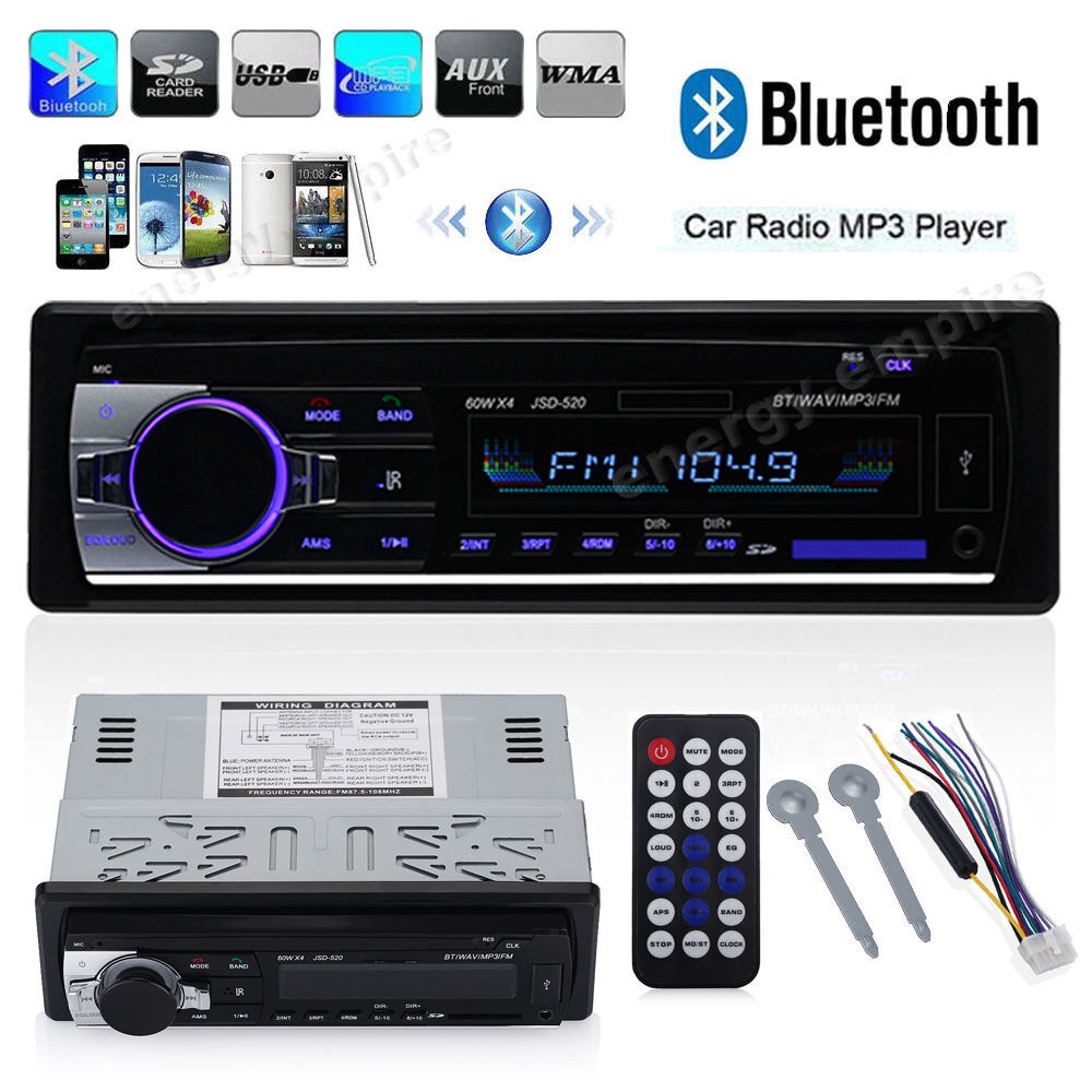 $20.80 - Car Stereo Audio Bluetooth In-Dash FM Aux Input Receiver SD/USB/MP3 Radio Player