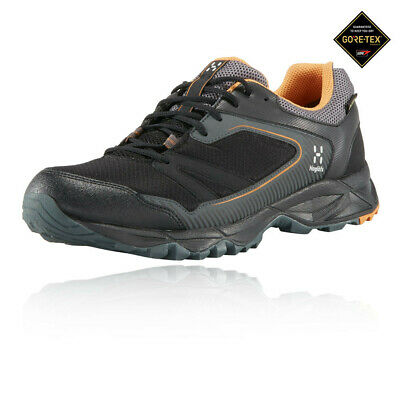 Haglofs Mens Trail Fuse GT Walking Shoes Black Grey Orange Sports Outdoors