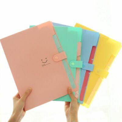 A4 File Organizer 10 Colors Waterproof Document Bag Pouch Bill Folder Holder New