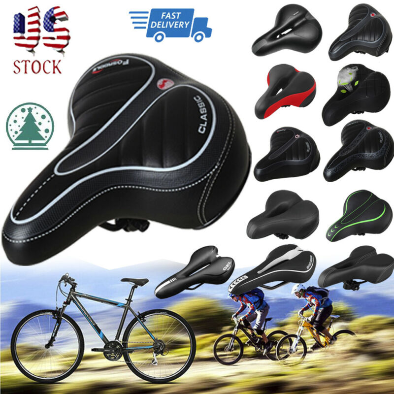 Comfort Wide Big Bum Soft Gel Cruiser Bike Saddle Foam Bicycles Seat Cushion Pad