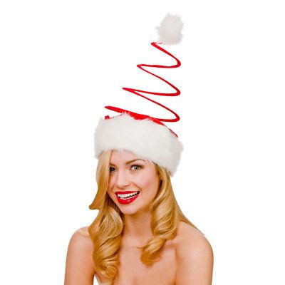 Für Erwachsene, Großes Deluxe Spirale Santa Hut Plüsch Kostüm Weihnachtsfeier