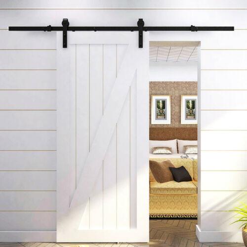 Sliding Barn Door Hardware Kit 6.6FT Modern Closet Hang Styl
