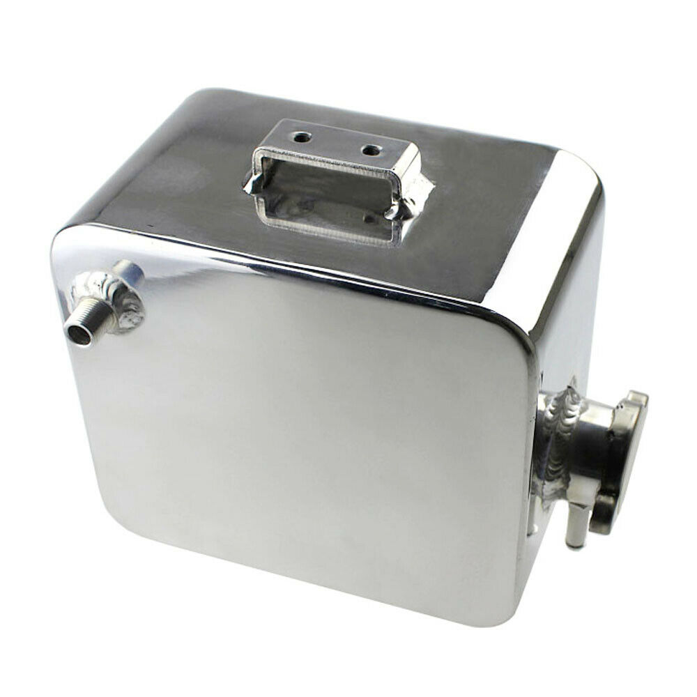 Universal 2 Litre Polished Custom Alloy Header Expansion Water Tank with Cap 2L