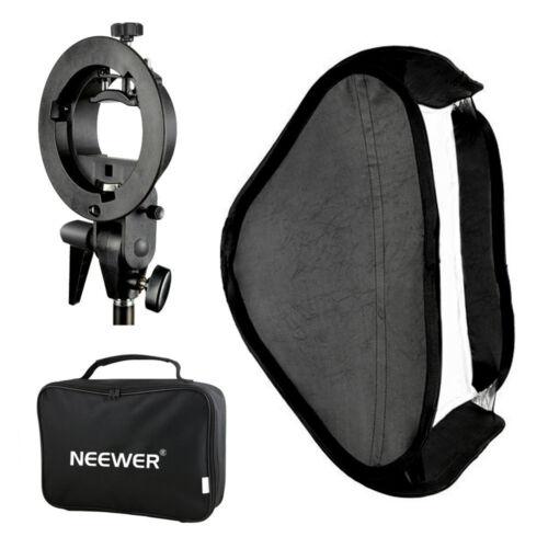 Neewer Multifunctional S-type Speedlite Bracket + 40x40cm Softbox + bag