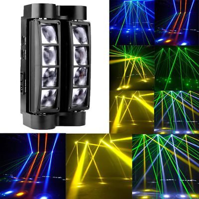 80W RGBW LED Spider Moving Head Stage Lighting Beam DMX Disco Party DJ Lights