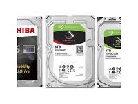 8TB HDD Seagate Iron Wolf, Barracuda & Toshiba N300