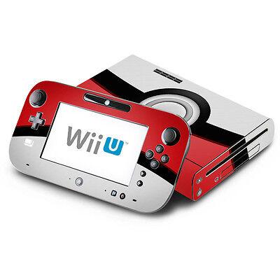 - Pokemon Pokeball - Nintendo Wii U & GamePad Skin Decal Sticker Vinyl Wrap