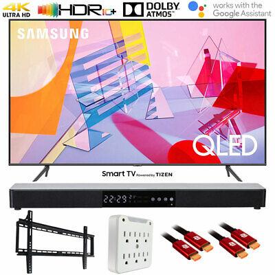"""Samsung QN65Q60TA 65"""" Q60T QLED 4K UHD Smart TV (2020) with Deco Gear Soundbar B"""