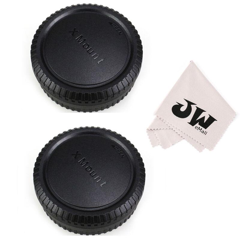 JJC (2Pack) Body Cap + Rear Lens Cap for Fujifilm X Mount Lenses+Cameras