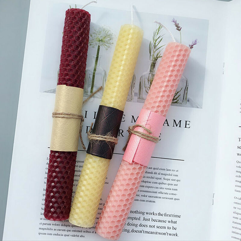 Beeswax Candle Mold Silicone Rolling Honeycomb Wax Sheet Wick Arts Craft DIY