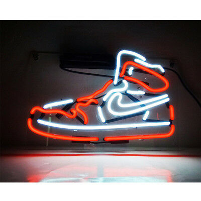 Red-Nike-Sneakers Neon Sign Light Store Display Beer Bar Sign 14x8''