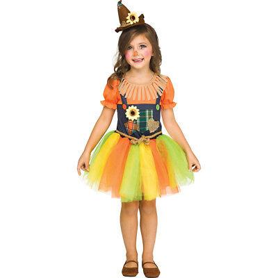 Toddler Girls Sweet Scarecrow Halloween Costume