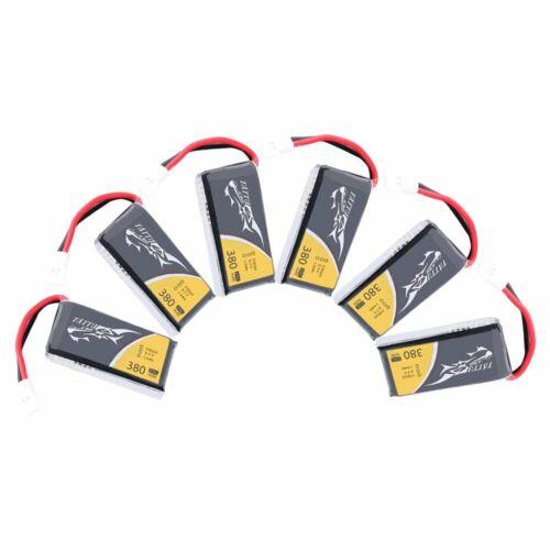 6pcs Tattu 3.7V 380mAh 1S LiPo Battery With Molex Plug For F