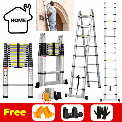 2m/3.2m/5m Ladder Aluminum Alloy Multi-Purpose Climb Telescopic Extendable Step