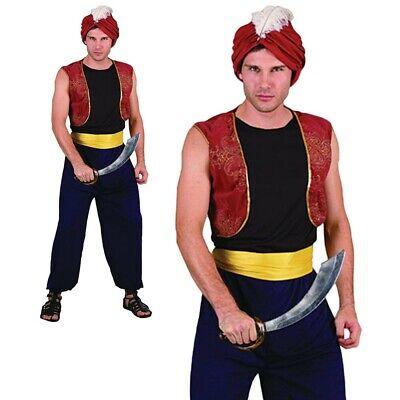 Herren Arabisch Bandit Kostüm Bollywood Genie Erwachsene Sindbad - Genie Kostüm Erwachsene