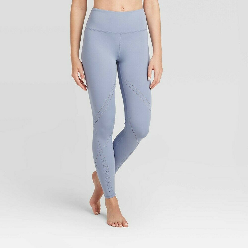 Women's High-Waisted Aspen Leggings – JoyLab Blue S Activewear