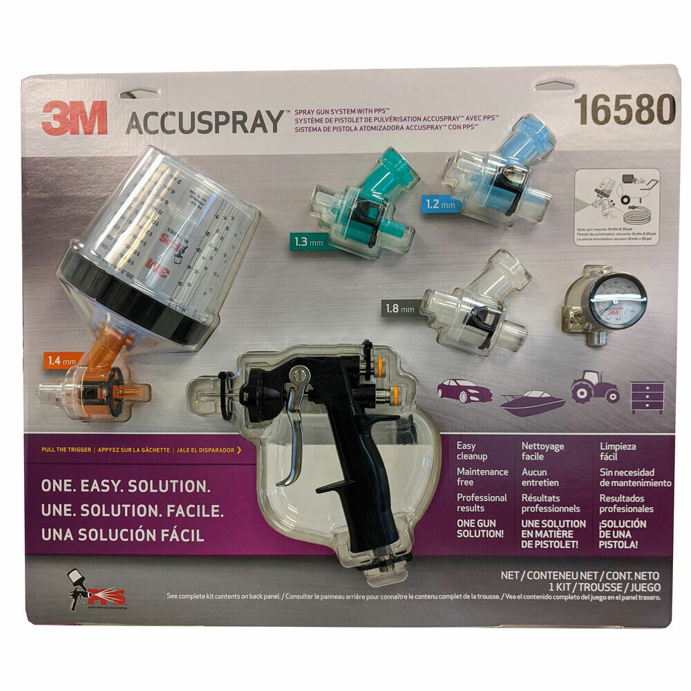 3M Accuspray ONE Auto Paint Spray Gun System Kit with Standard PPS 16580