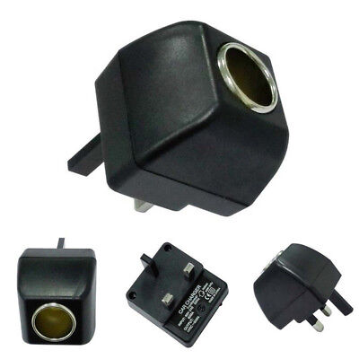 Car Auto Socket 220V Mains Plug to 12V DC Car Charger Power Adapter Plug NE8 for sale  United Kingdom