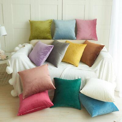 Velvet Pillow Sofa Waist Throw Cushion Cover Home Decor Cush