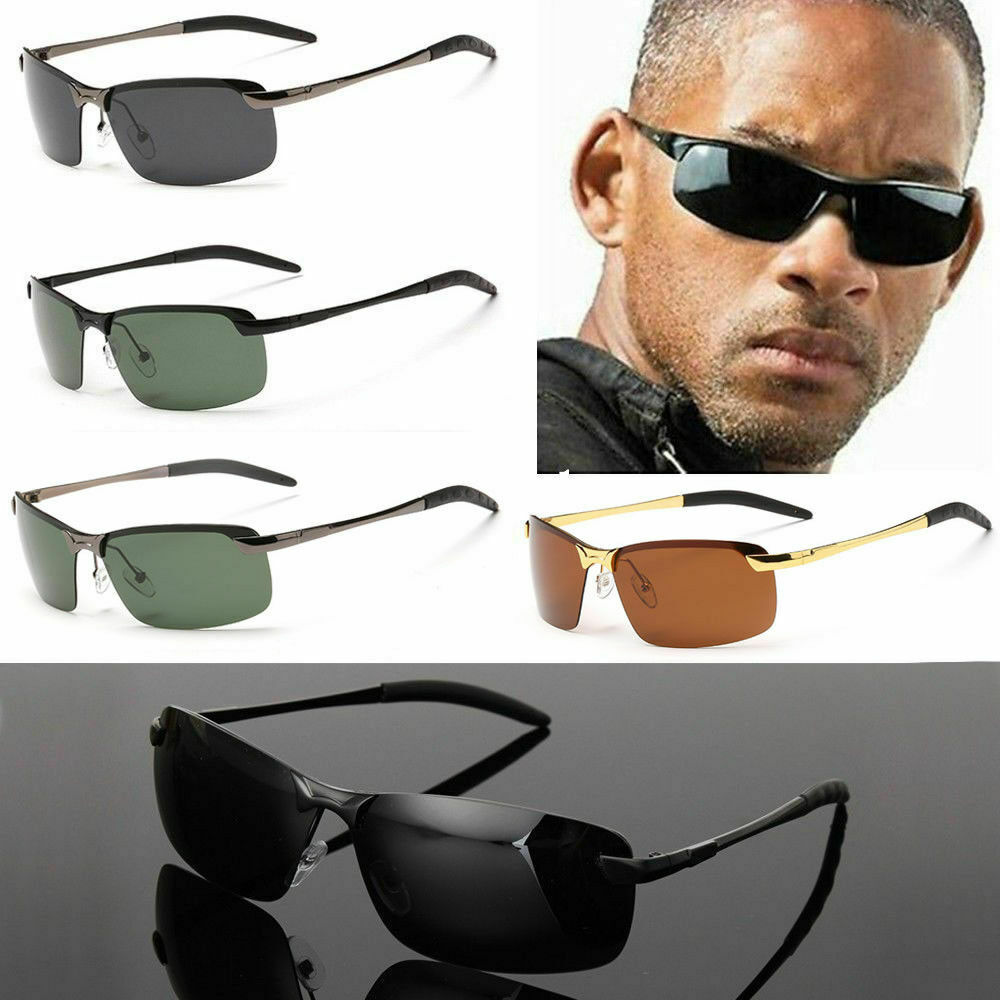 Herren Sonnenbrille Polarisiert Aviator metal Brillen Sport UV 400 Pilotenbrille