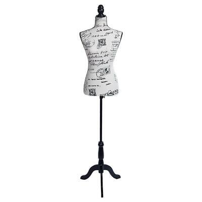 Female Mannequin Torso Dress Display Foam Clothing Black Tripod Stand