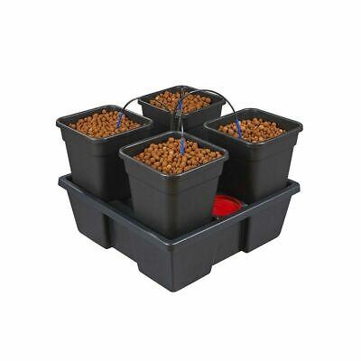 Pot Dripper-system (Hydroponic Wilma Self Watering System - Large 4 x 11 Litre Pot Dripper System)