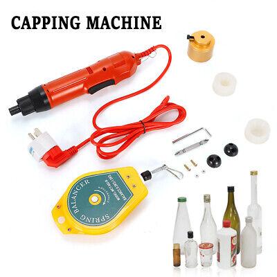 80w Handheld Bottle Capping Machine Screw Cap Capper Sealer 1-30mm 1000 Rmin