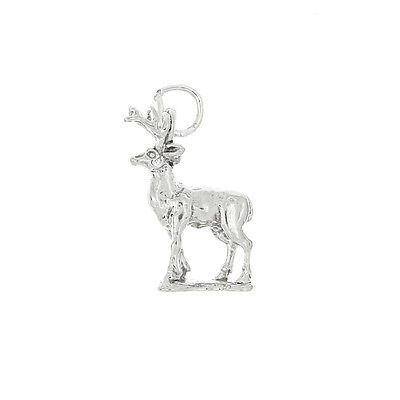 STERLING SILVER BUCK MALE DEER CHARM OR PENDANT
