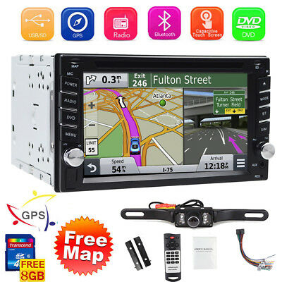 """GPS Steersmanship With Map Bluetooth Radio Double Din 6.2"""" Car Stereo DVD Player"""
