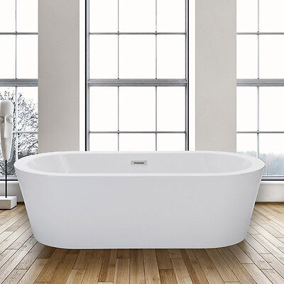 Woodbridge 67'' Freestanding Bathtub Contemporary Soaking Tub B-0002
