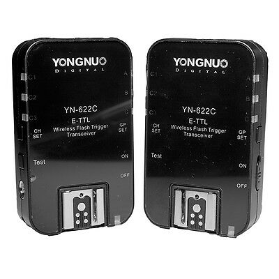Yongnuo YN-622C 622C 1/8000 E-TTL Funkauslöser Blitzauslöser Auslöser für Canon