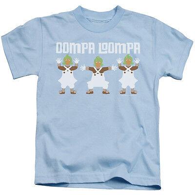 WILLY WONKA OOMPA LOOMPA Licensed Kids Graphic Tee Shirt 4 5-6 7 Boys Girls](Blue Oompa Loompa)
