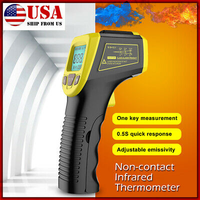 Non-Contact Laser Infrared Digital Temperature LCD IR Thermometer Gun Pyrometer