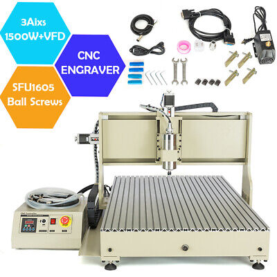1500w Vfd 3axis Cnc6090 Router Metal Engraving Milling Drilling Engraver Machine