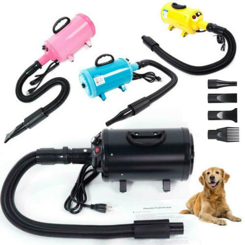 Portable Pet Hair Dryer Quick Blower Heater w/ 3 Tuyeres Dog Cat Grooming 4Color